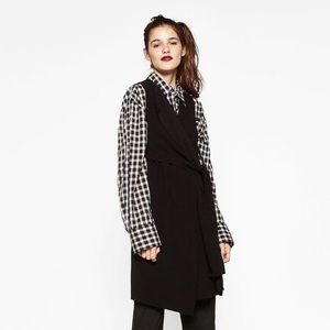 LIKE-NEW Zara Black Waistcoat